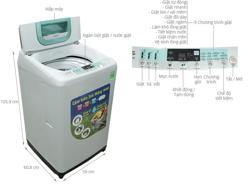 Cách sử dụng máy giặt Hitachi
